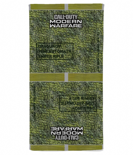 Sniper Scrim Net Camouflage Beach Towel Inspired by Call of Duty Modern Warfare
